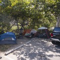 Typical campsite at Sycamore Canyon Campground.- A Guide to Camping Near L.A.