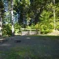 Typical campsite at Hares Canyon Horse Camp, L.L. Stub Stewart State Park.- L.L. Stub Stewart State Park