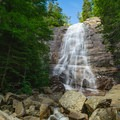A scenic place to relax on the rocks on a nice day by Arethusa Falls.- Incredible Adventures in New Hampshire's White Mountain National Forest
