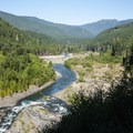 View of the Elwha River Valley looking north.- Elwha Valley:  A River In Transition