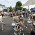 One of Portland's finest, LoveBomb Go-Go Marching Band brought their A-game.- Outdoor Project's Portland Solstice Block Party 2017