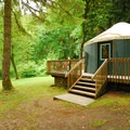 One of six yurts in John MacDonald Memorial Campground.- 30 Campgrounds Perfect for West Coast Winter Camping