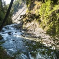 The beginning of the Elwha River Grand Canyon.- Elwha Valley:  A River In Transition