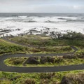 The winding path to the rocks of Thor's Well.- Navigating the Oregon Coast Trail