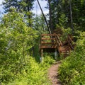 A viewing platform offers one of few views at Cougar Bay Nature Preserve.- Best Hikes Near Spokane, Washington