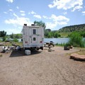 Typical campsite at South Bay Campground.- Horsetooth Reservoir County Park