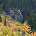 Waterfall on Sprague Creek near the top of the trail to the Sperry Chalet.- Epic Fall Hikes Through the Rockies