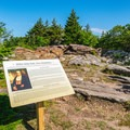 Interpretive sign on the summit of Pack Monadnock in Miller State Park.- Best New Hampshire Towns for Family Adventure