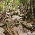 A rocky section of trail on Mount Chocorua.- Incredible Adventures in New Hampshire's White Mountain National Forest