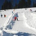Paradise Snowplay Sledding Area.- Winter in Mount Rainier National Park