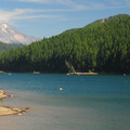 Detroit Lake and Mount Jefferson (10,495 ft) from the north shore.- Best Lake Camping in Oregon