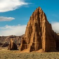 Temples of the Sun and Moon, Lower Cathedral Valley.- Capitol Reef National Park