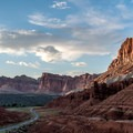 Sunset on the Scenic Drive, Capitol Reef.- Summer Road Trip Destinations in Idaho, Colorado, and Utah