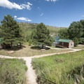 Cabins at South Bay Campground, Horsetooth Reservoir County Park.- Horsetooth Reservoir County Park