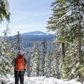 Enjoying the view of Diamond Peak.- 22 Must-do Snowshoe Trails in the West