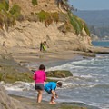 Beaches below Opal Cliffs near Pleasure Point.- Fern River Resort