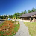 Meeting Hall and walk-in campsites at Dairy Creek Camp West.- L.L. Stub Stewart State Park
