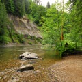 The Lewis River alongside the campground.- A 3-day Itinerary for the Gifford Pinchot National Forest