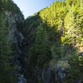 View of Gorge Creek Canyon from the Highway 20 bridge, North Cascades National Park.- 30 Must-See Waterfalls + Hikes in Washington