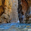 "An area of the Narrows called ""Wall Street"" at Zion National Park. - The Ultimate Utah National Parks Road Trip"
