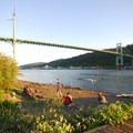 St. Johns Bridge from the Cathedral Park boat ramp.- 31 Best Beaches + Swimming Holes in-and-around Portland, Oregon