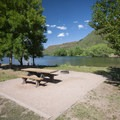 Typical campsite at Inlet Bay Campground, Horsetooth Reservoir County Park.- Horsetooth Reservoir County Park