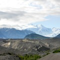 View north to Mount Blackburn (16,391 ft) and the Kennicott Glacier.- An Adventure Weekend in Wrangell-St. Elias National Park