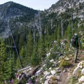 Hiking out of the Summit Lake basin.- Getting Lost in the Strawberries and Blues