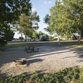 Typical campsite at Boyd Lake State Park Campground.- Boyd Lake State Park