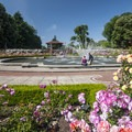 The water feature and gazebo in Peninsula Park.- City Parks You Definitely Need to Visit