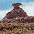 Sunlight bouncing into the sombrero at Mexican Hat.- Astounding Rock Formations