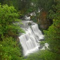 View over Middle Falls while hiking along the McCloud River.- 10 Reasons to Visit Mount Shasta