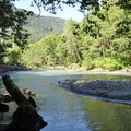 River view from Silver Fir Campground.- Best Lake + River Camping in Washington