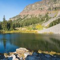 Fishing for brook trout at Little Strawberry Lake.- Oregon's Best Backpacking Trips