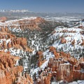 Bryce Canyon and Ampthitheater from Inspiration Point in Bryce Canyon National Park.- National Park System