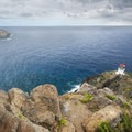 View of the Makapu'u Lighthouse from the Makapu'u Point summit (647 ft).- Hawaii's Best Day Hikes