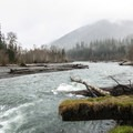 Hoh River adjacent from Hoh Campground.- Best Year-round Campgrounds in Washington