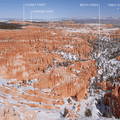Looking north toward Bryce Canyon's Silent City from Inspiration Point.- Bryce Canyon National Park