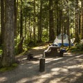 Typical campsite at Heart O' the Hills Campground.- A Guide To Camping in Washington