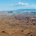 Indian Creek Corridor and Abajo Mountains seen from Needles Overlook.- Bears Ears National Monument