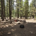 Typical campsite at Pineknot Campground.- 3-day Itinerary for Big Bear Lake, California