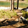 One of four walk-in campsites right along the Ohanapecosh River at Ohanapecosh Campground.- The Ultimate Washington National Parks Road Trip