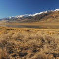 Open views abound at Mann Lake Recreation Site of the lake and Steens Mountain (9,734 ft).- A Guide to Camping in Oregon