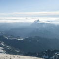 View northeast from the summit of Mount Baker toward Mount Shuksan (9,131').- 35 Summit Views Worth Hiking For