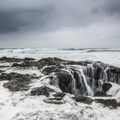 Thor's Well at Cooks Chasm.- Driving 101: An Unbeatable West Coast Road Trip