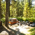 Typical campsite at Park Creek Campground.- A Guide To Camping in Washington