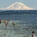 Mount Rainier (14,411 ft) and Lake Washington from O. O. Denny Park.- Washington's 50 Best Swimming Holes