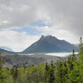 View of Donoho Peak (6,696 ft) and the Root Glacier at right.- An Adventure Weekend in Wrangell-St. Elias National Park
