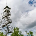 Belfry Mountain Fire Tower offers a 360-degree view.- Adirondack Fire Tower Hikes