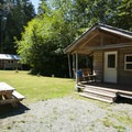 Cabins at The Lost Resort.- 30 Campgrounds Perfect for West Coast Winter Camping